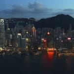 Die Skyline von Hongkong vom Sky100 aus gesehen.