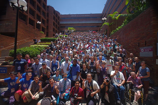 Die Teilnehmer der Wikimania in Hongkong. Foto: Qweaz CC-BY-SA-3.0 via Wikimedia Commons