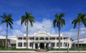 """Das Hotel """"Grand Pacific"""" ist die erste Adresse der Stadt."""
