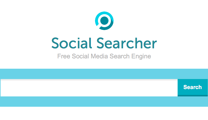 Screenshot von Social Searcher