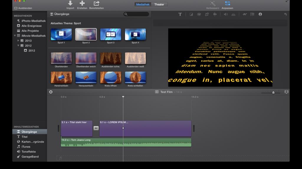 Screenshot der iMovie Version 10.0.4, Quelle: Benutzer:Patricks Wiki, Urheber bzw. Nutzungsrechtinhaber: Apple Inc., Gemeinfrei