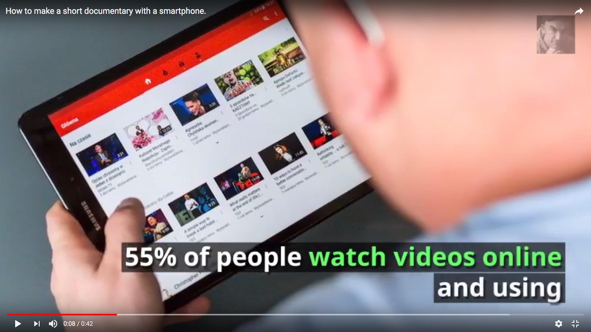 Lumen 5: Screenshot eines Beispielvideos