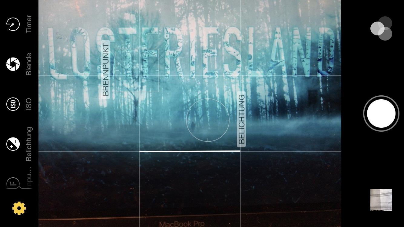 Screenshot der App Warmlight, mit der sich die Kamera des Iphones manuell einstellen lässt.