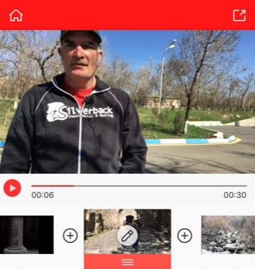 Titelbild der App des Monats Vlogit. Zu sehen ist die Oberfläche der App.